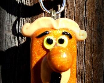 Alice Wonderland Doorknob Themed Clay Necklace