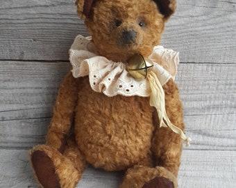 OOAK Teddy bear Bono, Artist teddy, Classic Style plush teddy bear, Collectible bear, Beautiful gift, stuffed plush bear