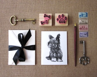 Yorkshire Terrier Dog Note Cards Set of 10 with Matching Envelopes
