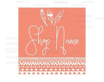 Business Logo - Boho Style - Shop Logo - Etsy Branding - Etsy Store Branding - Shop Icon -  Etsy Shop Icon - Logo Style 500