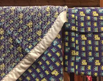 Train Chenille Baby Blanket Set