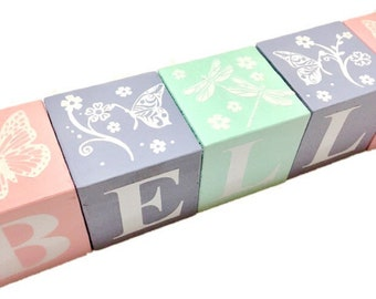 Lil Butterflies and dragonflies Name Blocks