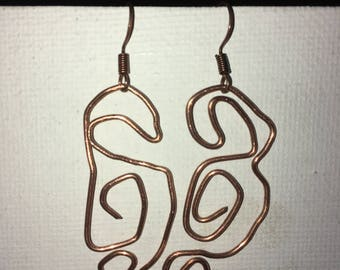 Abstract wire earrings