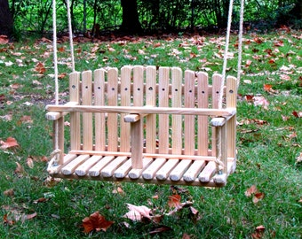 Charmant PINE DOUBLE SWING, Kids Wooden Swing, Backyard Outdoor Toys, Toddler And  Baby Swing