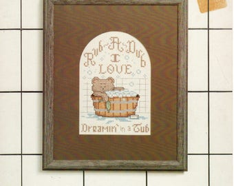 Rub-A-Dub Cross Stitch Pattern - Three Needles