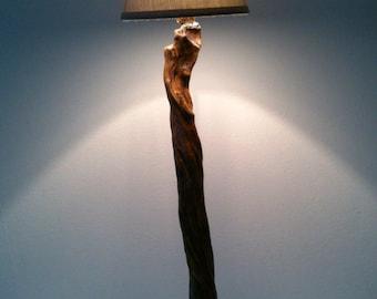 Driftwood skin Lampshade lamp