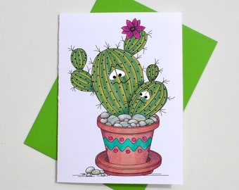 Cactus greeting card, Sorry for being a Prick greeting card, sassy cheeky apology card, sorry card, cacti puns greetings,
