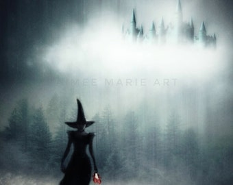 Witch Print, Wicked Witch, Witch Gift, Witch Art, Wizard Of Oz, Gothic Art, Halloween Print, Dark Art, Whimsical Art, Fairytale, Photo Print