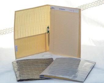 Legal Pad Notebook, Full Size Writing Pad, Recycled Sailcloth, Kevlar Carbon Fiber, Cuben Fiber, Upcycled Sails
