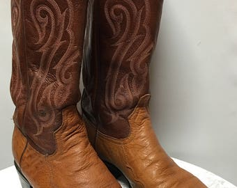 Vintage Tony Lama Ostrich Boots in size 8 D