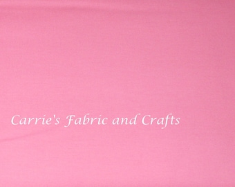 Clearance SALE Bella Solid 30's Pink by Moda, pretty pink solid fabric, great for quilting or clothing
