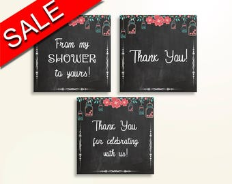 Thank You Tags Baby Shower Thank You Tags Chalkboard Baby Shower Thank You Tags Baby Shower Chalkboard Thank You Tags Black Pink NIHJ1