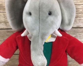 Vintage 1988 Gund Babar The Elephant Plush Toy Stuffed Animal Doll