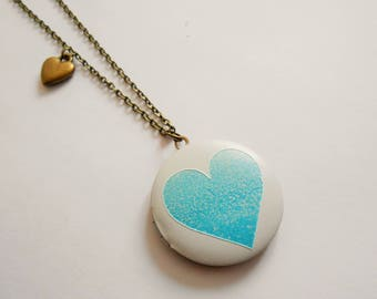 locket necklace - heart necklace -  love necklace - heart pendant - photo necklace - medallion necklace - love jewelry - heart charm