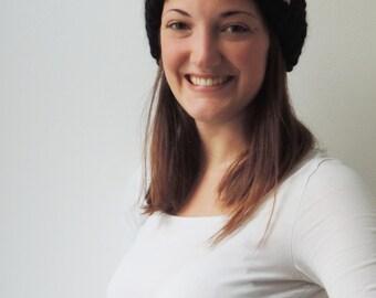 Headband SARAH in Black | Knit Earwarmer | Chunky Knit