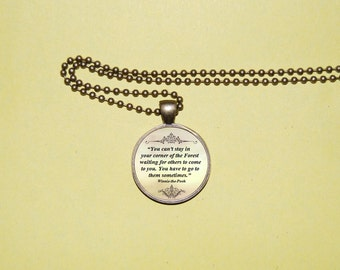 Winnie the Pooh quote pendant necklace. inspirational quote. Pooh. pendant necklace . jewelry Fairy Tale  A.A. Milne.