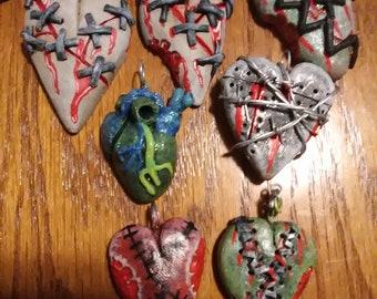Broken heart necklaces