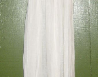 Antique Long Gauzy Baby Gown with Cap Sleeves
