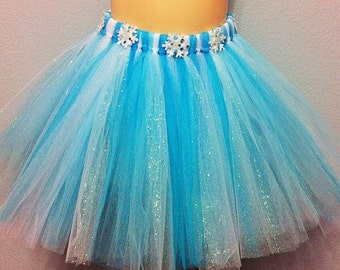 blue and white tutu, snowflake skirt, winter wonderland skirt, winter onederland party outfit, winter tutu, onederland birthday
