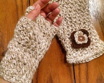 Crochet Fingerless Gloves, Handmade, Very soft