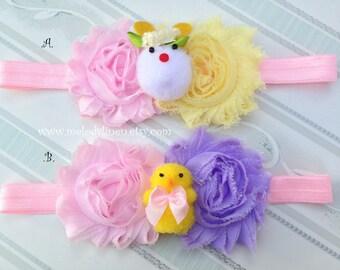 NEW-Easter Headband bunny headband baby headband new born headband toddler headband flower Headband pink headband girl headband