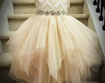Lace/Tulle Wedding Party Dress, Flower Girl Dress, Special Occasion Dress - 2-10
