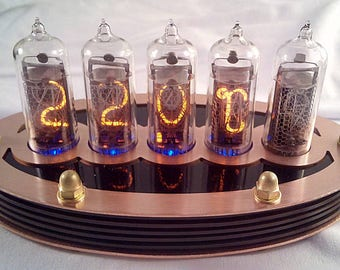 5-tube Nixie Thermometer V2 (DIY Kit, with copper top)