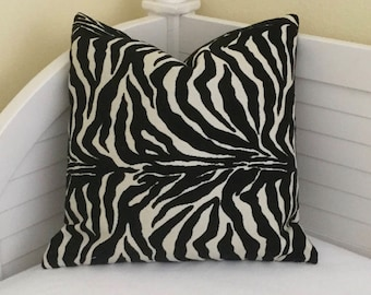 Lee Jofa Groundworks Animal Print Indoor Outdoor Pillow Cover - Square, Lumbar and Euro Sizes