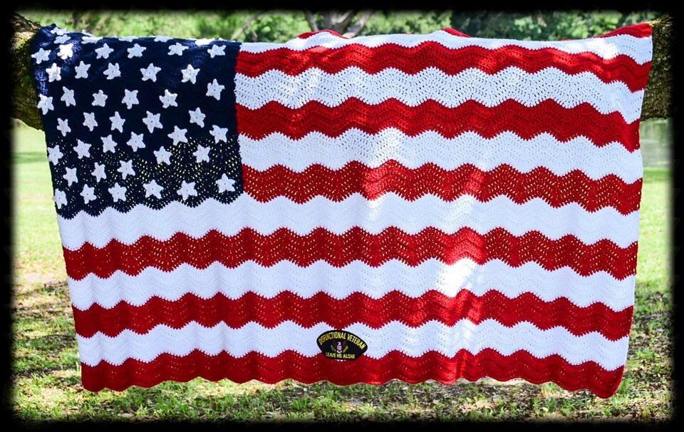 American flag soldiers pride crochet afghan zoom dt1010fo