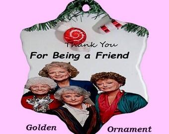 Christmas Ornament, christmas, golden Girls, fun, pink, cult, tv, 80s, holidays. xmas, tree, cult tv, 80s