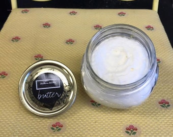 Body Butter for Southern Kitchen Beauty Box - Blended from Mango Butter, Argan Oil, and Arrowroot in Imported Italian Canning Jar