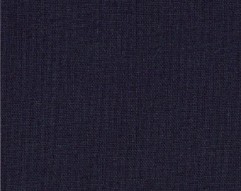 "Navy Blue Solid Fabric - Bella Solids ""Navy"" by Moda 1 Yard"