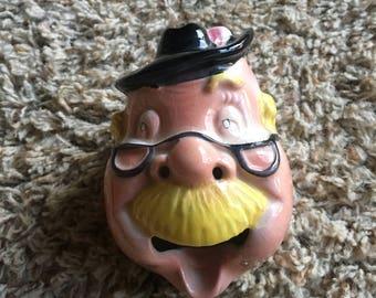 Man Face Head Pipe Smoke Holder