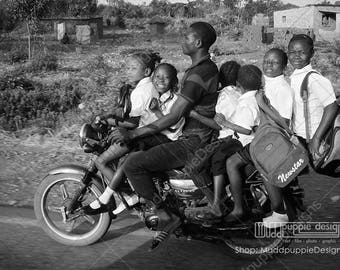 Street life African school bus the rustic life rural beauty monochrome Nature Black White Grey African lifestyle young children education