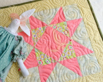 Doll's quilt - Pink Star