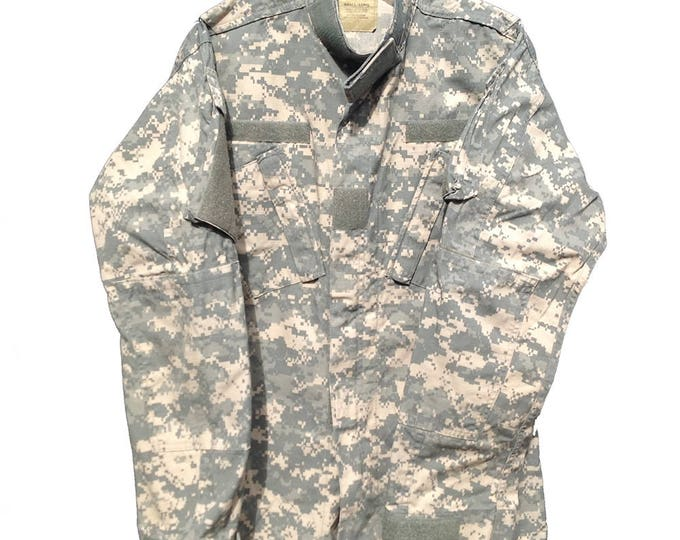 Authentic Small Long ACU Digital Camo BDU Jacket