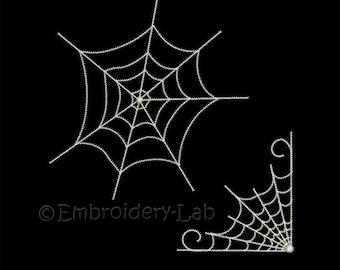 Spider's Web 0001+0002 SET - machine embroidery designs