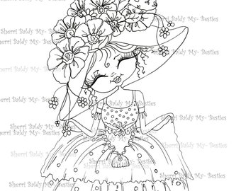 INSTANT DOWNLOAD Digital Digi Stamps Big Eyed  Besties Big Head Dolls fancy pants all dressed up Digi By Sherri Baldy