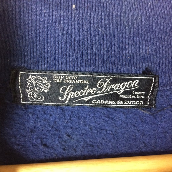 Fashion Japanese Sweaters Japan Luxury Sweatshirt Brand Blue Size Spectro Big Dragon Manufacture Logo ZUCCA CABANE Dark Hiphop de Large 7Haq44