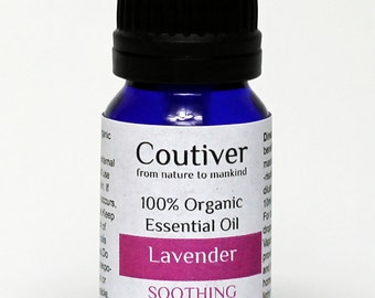 """French Lavender essential oil Organic and cruelty free 10ml """"Lavandin"""""""