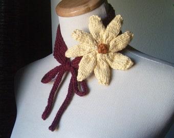 The Daisy - Knit Neckband/Headband ALL COTTON