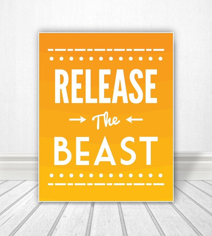 Release The Beast, Bathroom Wall Art, Bathroom Artwork, Wall Art ...