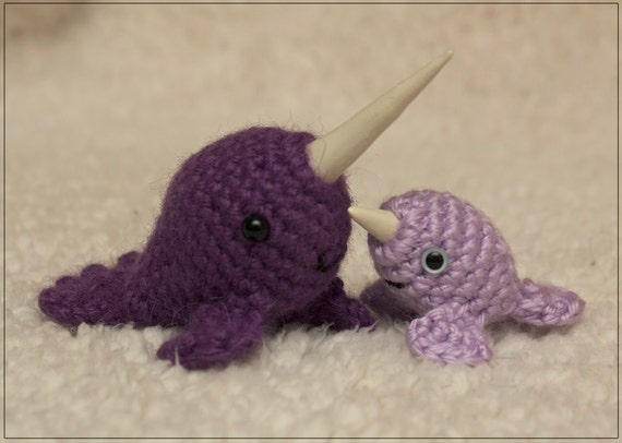Amigurumi Narwhal Pattern : Pattern mr narwhal baby narwhal crochet amigurumi pattern