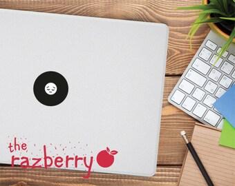 Sad Emoticon Macbook Decal Sigh Emoji Macbook Decal Emoticon Emo Macbook Decal Whatsapp Macbook Decal iPhone Macbook Decal Vinyl Emoticon