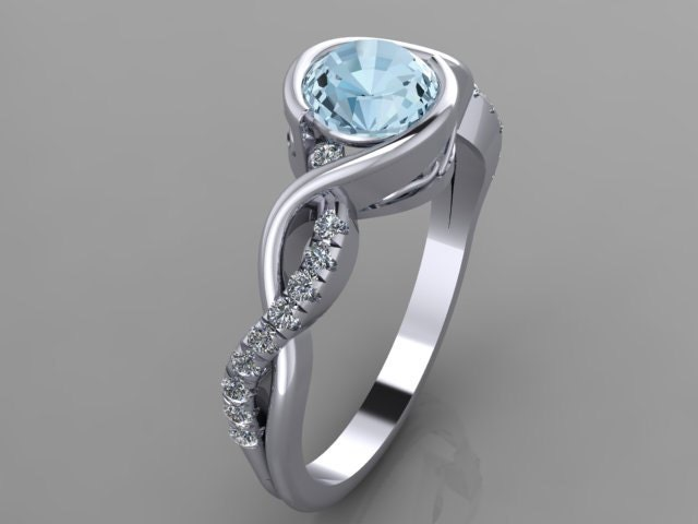 profile brilliant engagement round diamond rings low ring wedding