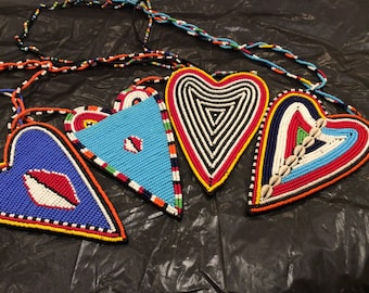 Maasai Heart or Peace Necklace