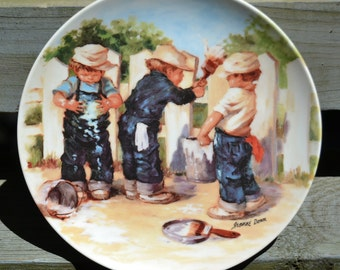 KNOWLES Fine China Numbered Plate Painted by Jeanne Down