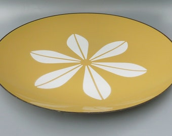 Catherineholm Plate, Yellow Lotus Plate, Catherineholm Lotus Serving Dish, Danish Modern Plate, Mid Century Modern Plate,Yellow Enamel Plate