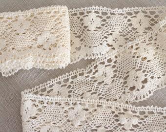 Vintage French Crochet Lace Trim - 2 metres