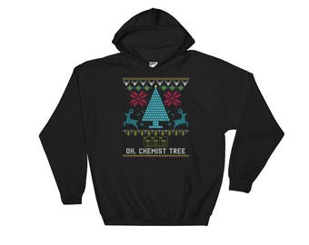 Hooded Sweatshirt Oh Chemist Tree Shirt Chemistry Christmas Tree Gift Hoodie